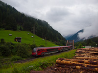 An unidentified ÖBB railjet  seen between St. Anton am Arlberg and Flirsch on Rosannabrücke II