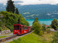 The Brienz-Rothorn-Bahn Hm 2/2 11 seen between Geldried and Brienz
