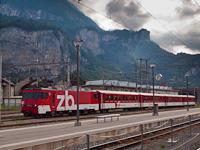 The Zentralbahn HGe 4/4<sup>II</sup> (101) 962-9 seen at Meiringen