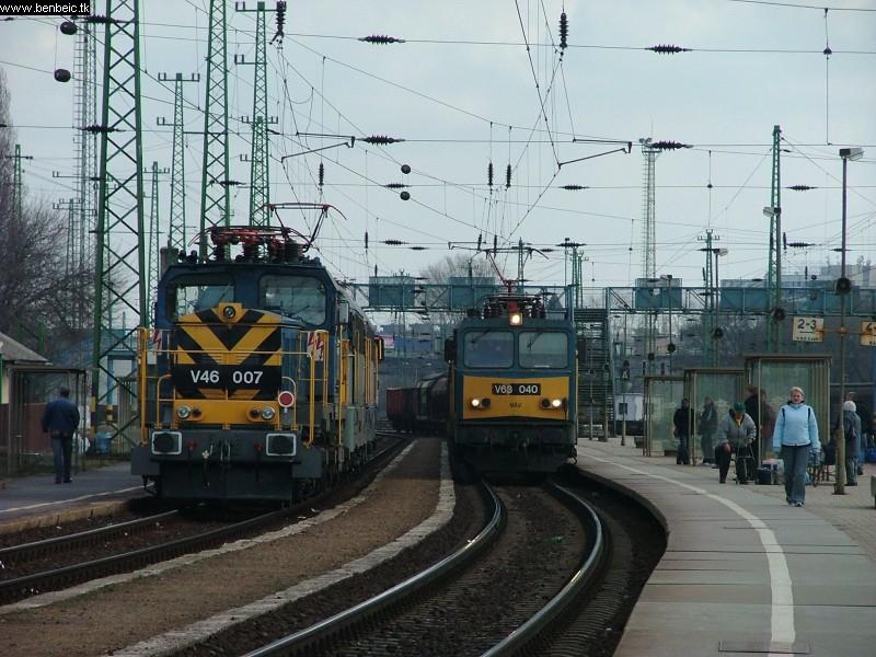 V43 2260 és társai, valamint V63 040 Ferencvárosban fotó