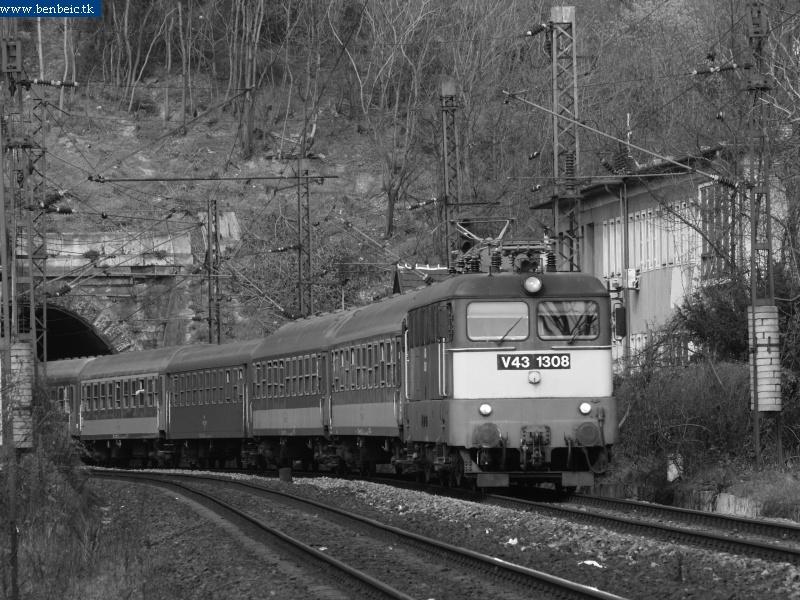 V43 1308 az alagútnál fotó