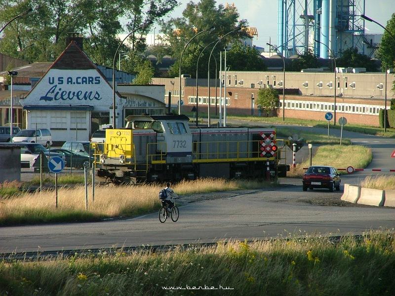 A 7732-es belga dízelmozdony Gentben fotó