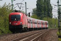 The 1116 009-0 with a EuroRegion before �cs