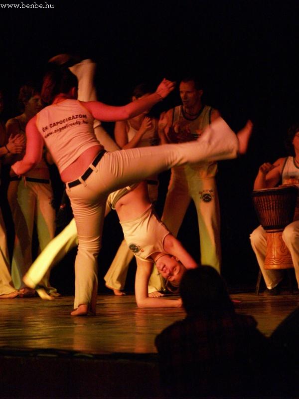 A capoeira már félig harcmûvészet, de roppant látványos fotó