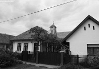 Nagybörzsöny cottages and a small church