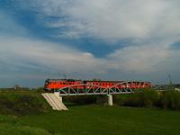 A MÁV-START Btx 024 Pocsaj-Esztár és Kismarja között a Berettyó hídján