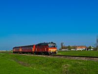 A MÁV-START MDmot 3038 Hortobágyi halastó és Hortobágy között
