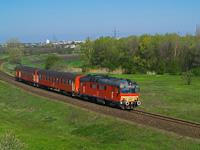 The MÁV-START MDmot 3038 seen between Debrecen and Debrecen