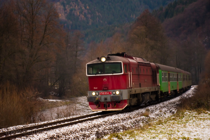 The ČSD 754 054-5 seen picture