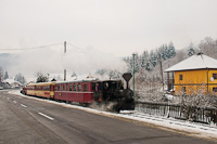 The ČHŽ U34 804 seen between Čierny Balog and Vydrovo Skanzen