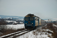 The CFR Calatori 60 0718-6 <q>Sulzer</q> and an unidentified <q>Jimmy</q> seen between Rușii-Munți and Deda on the line from Targu Mures to Brasov