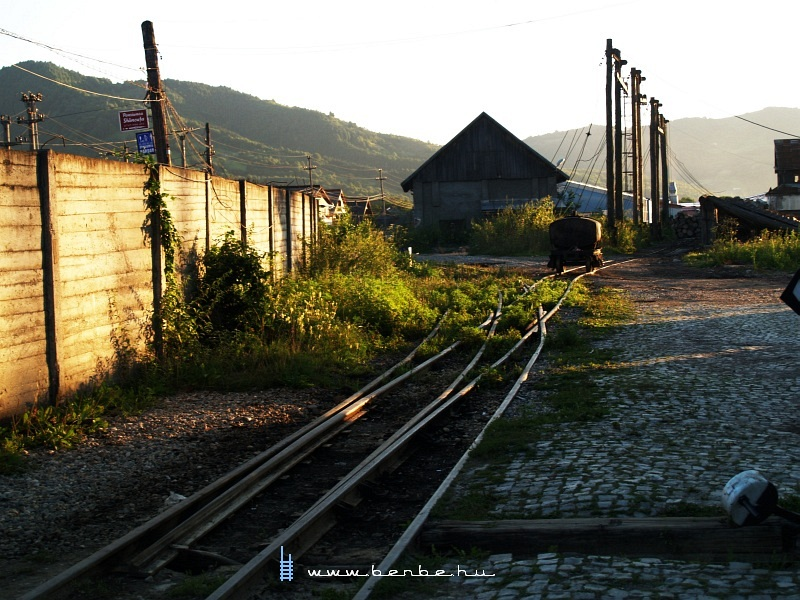 Felsõvisó kisvasúti állomás egy fonódott váltója fotó