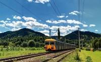 Ismeretlen pályaszámú ex-francia motorvonat Vámfalu és Kimpolung között