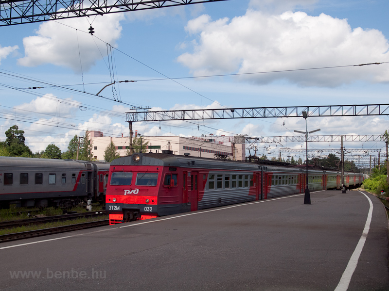 The RŽD ET2M 032 seen  photo