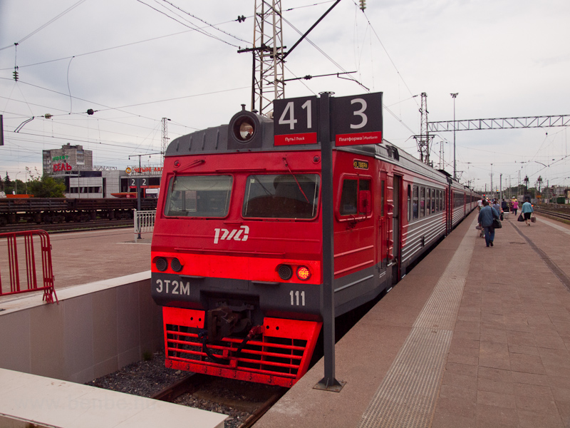 The RŽD ET2M 111 seen  photo