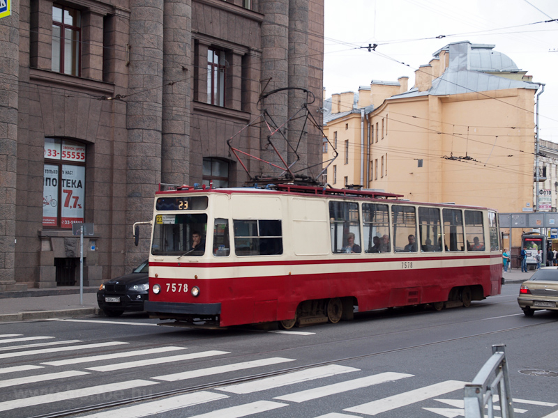 St. Petersburg tram photo