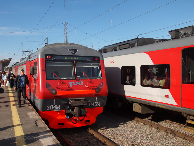 The RŽD ED4M 0424 seen photo