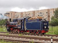 A RŽD K<sup>P</sup>4-447 pályaszámú, keskeny nyomközű gőzmozdony Carszkoszelszkaja állomáson