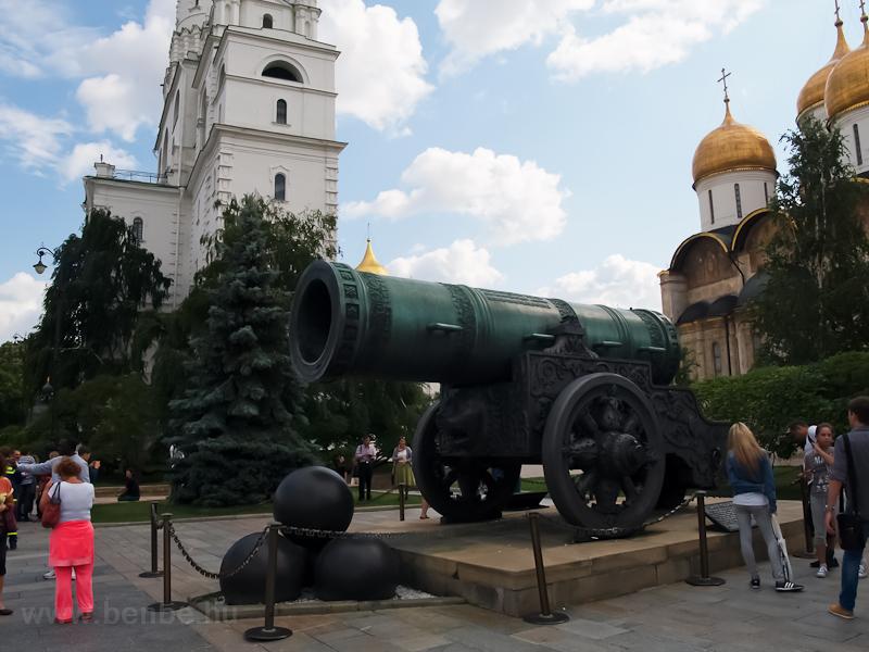 A Cárpuska, egy mindössze dísznek készült hatalmas ágyú a Kremlben fotó