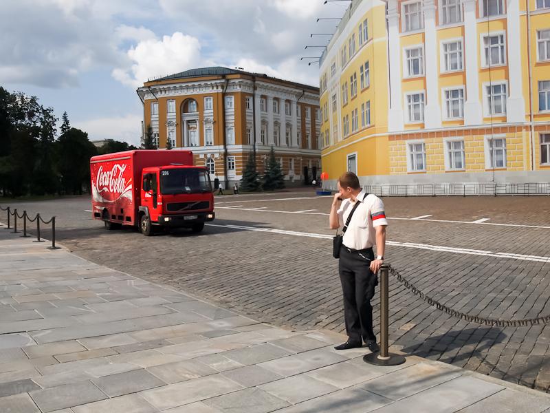 Coca-Cola teherautó a Kremlben - itt nem olyan erős már az ideológia fotó