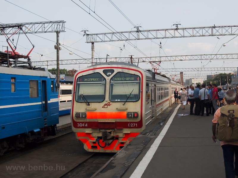 Az ED4-M-0271 Moszkva Jaroszlavszkíj vokzálon fotó
