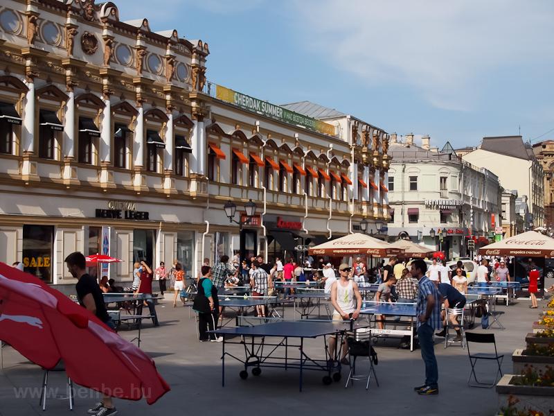 Pingpong-bajnokság a Kuznetszkíj moszton fotó