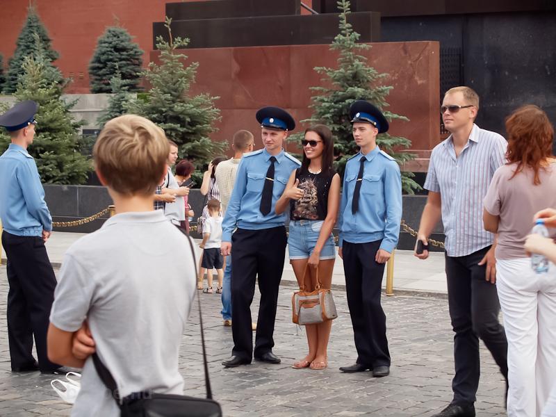 Policemen near the mausoleum of Lenin photo