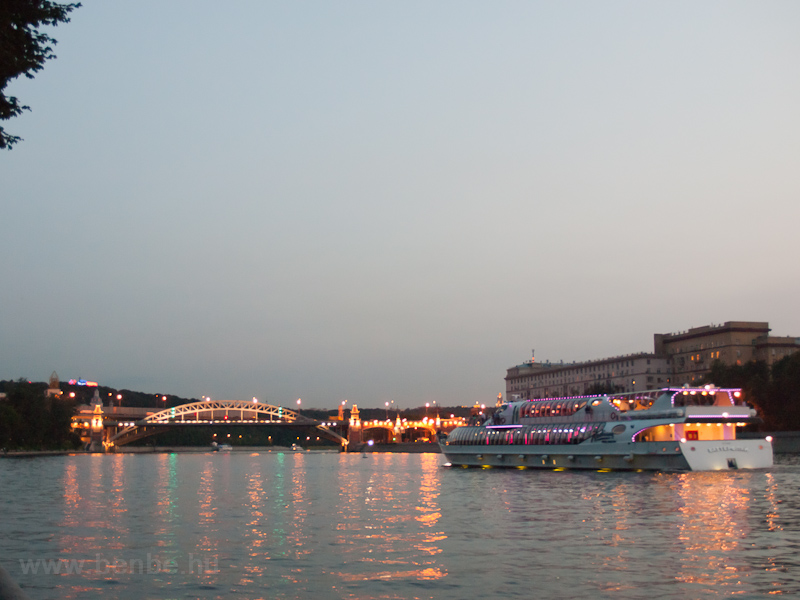 The Moskva river by dusk photo