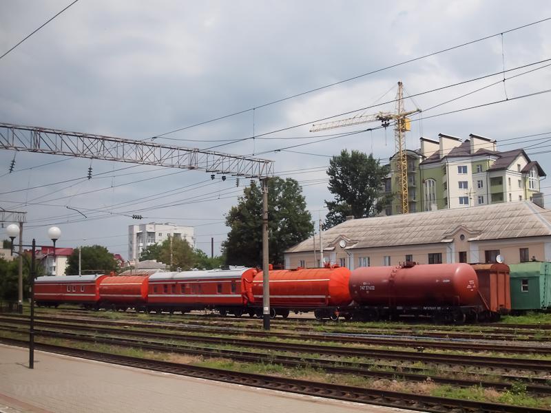 Tűzoltóvonat szerelvénye Ternopilban fotó