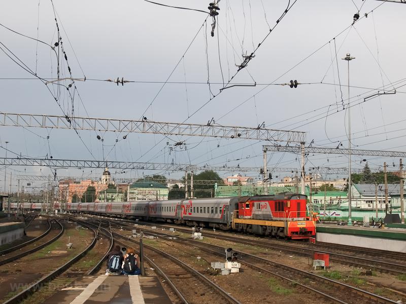The RŽD ЧМЭ3-6858 at Moscow Kazansky station photo
