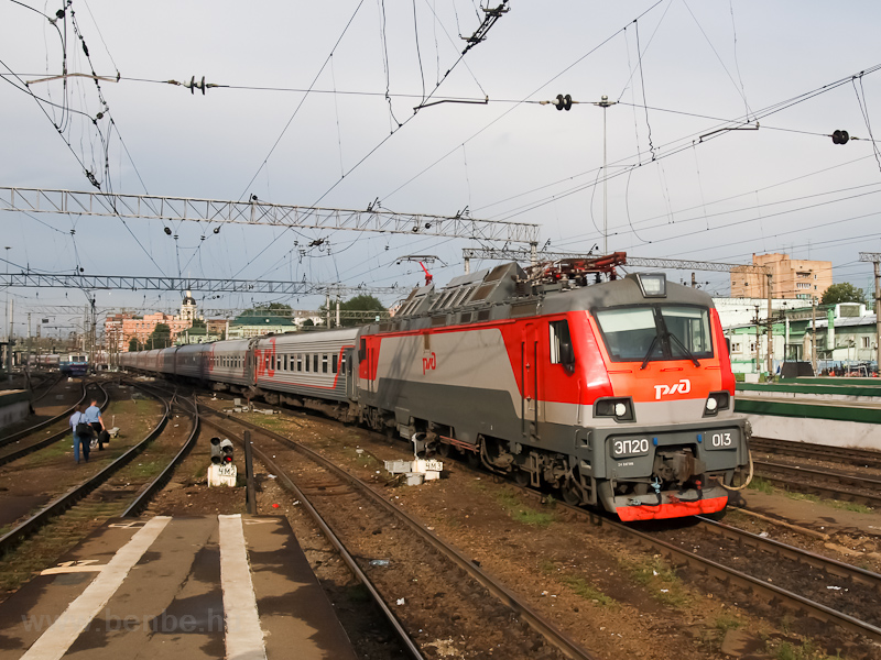 The RŽD ЭП20-013 at Kazansky station photo