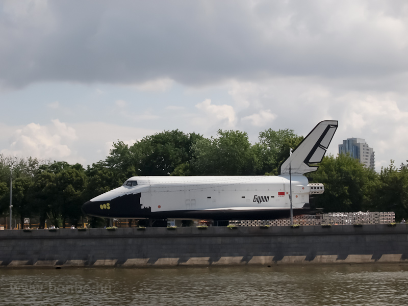 Boatride on the Moskva river - one of the Buran space shuttles photo