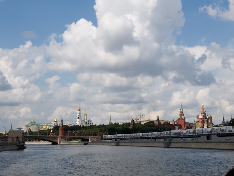 Boatride on the Moskva river - the Kremlin of Moscow photo