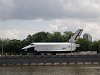 Boatride on the Moskva river - one of the Buran space shuttles