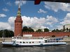 Boatride on the Moskva river - the Kremlin of Moscow