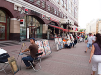 Caricaturists on the Arbat