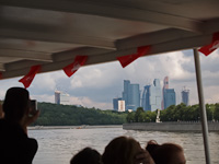 Boatride on the Moskva river