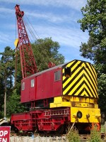 A railway crane at the Banchory exhibition