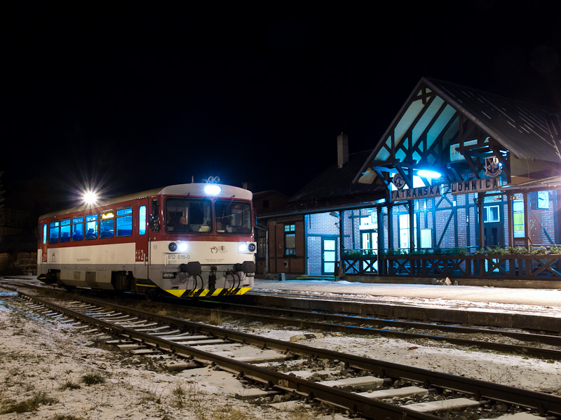 The ŽSSK 812 015-0 seen at Tatranská Lomnica photo