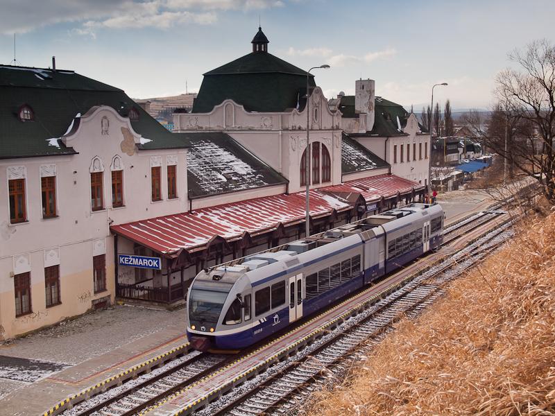 A ŽSSK 840 001-6 Késmárk (Kežmarok) állomáson fotó