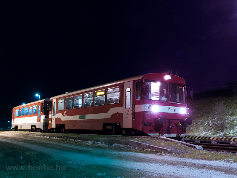 The ŽSSK 812 044-0 seen at Nálepkovo on the Margecany-Červená Skalá railway photo