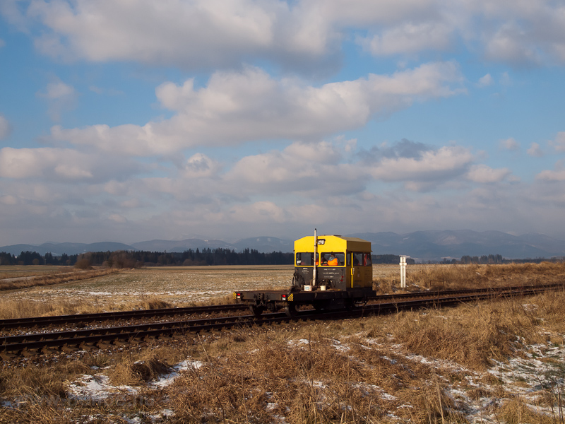 Track maintenance car near  photo