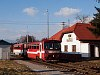 A ŽSSK 812 027-5 Garamsálfalva (Šalková) megálló-rakodóhelyen