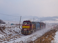 The ŽSSKC 731 053-5 seen between Plavnica (Palonca) and Hromoš (Kormos)