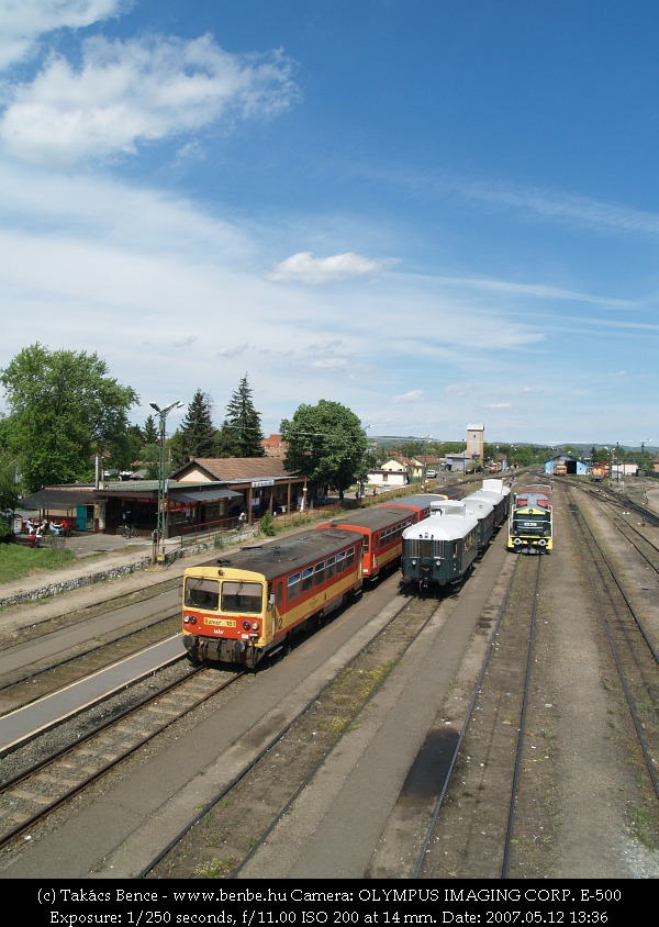 BCmot vonatunk Balassagyarmaton (továbbá M32 2040 és Bzmot 181) fotó