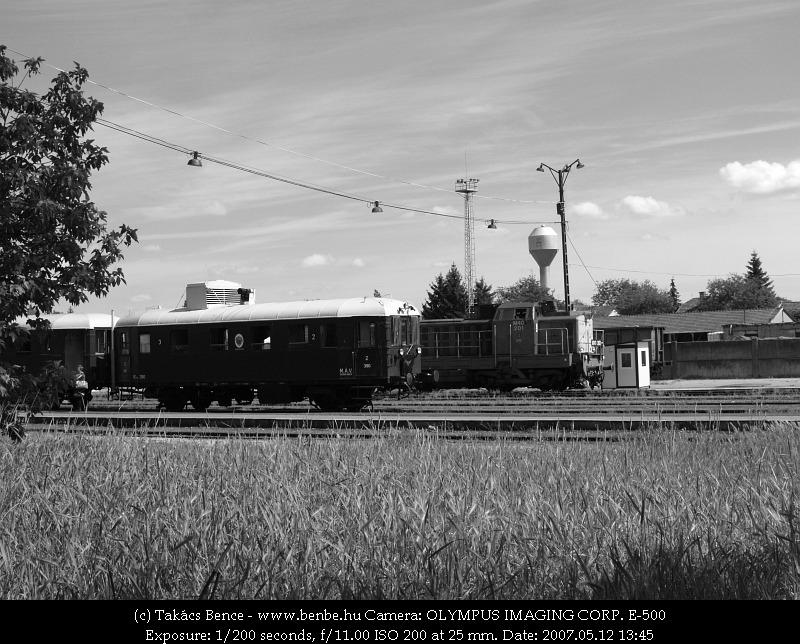BCmot vonatunk Balassagyarmaton (továbbá M40 201) fotó