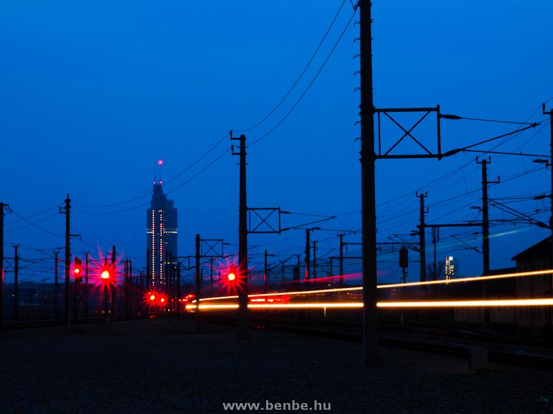Wien Praterstern station by night photo