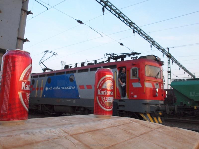 A HŽ 1141 303 pályaszámú mozdonya Gyékényes állomáson fotó