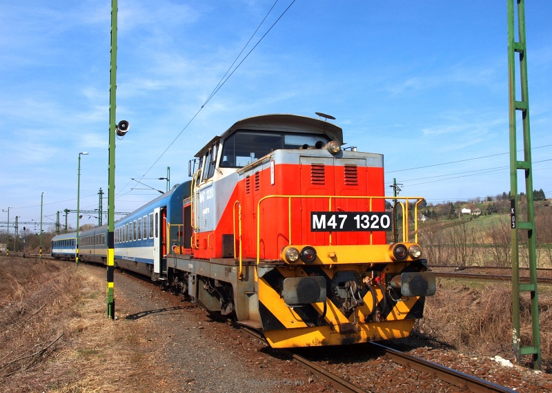 The MÁV M47 1320 at Gyékényes photo