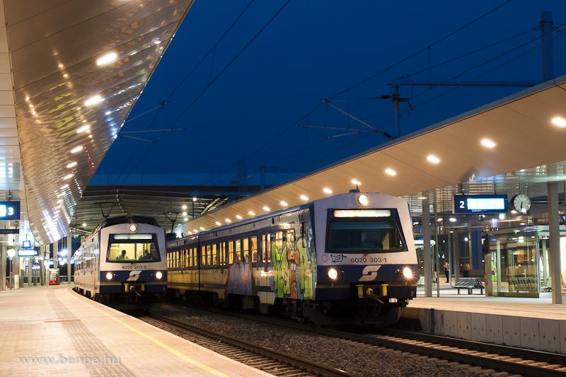 Az ÖBB 4020 203-8 és 6020 303-1 S-Bahn motorvonatok Wien Pratersternben fotó